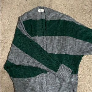 Green and grey Pink Rose XS cardigan